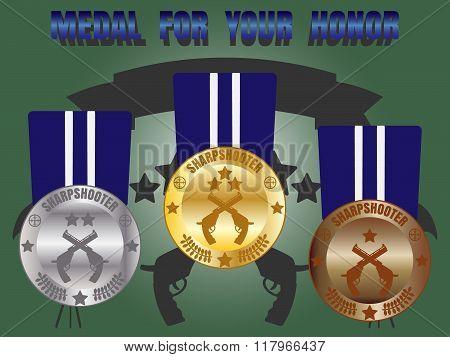Medal Skill Honor Sharpshooter Set