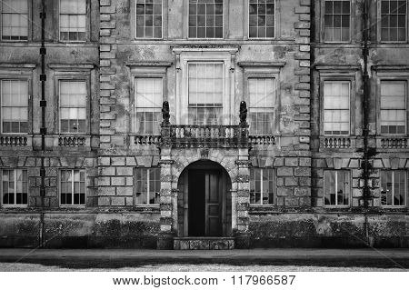 Unidentified Old English Mansion House With Balcony Overlooking Entrance
