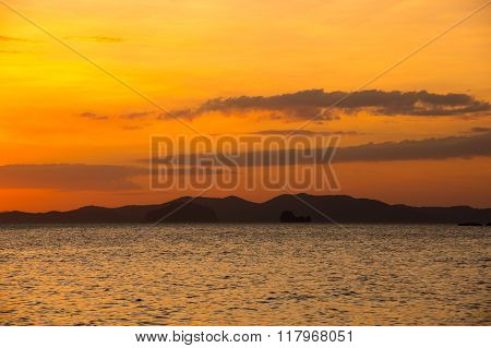 Andaman Sea On Sunset