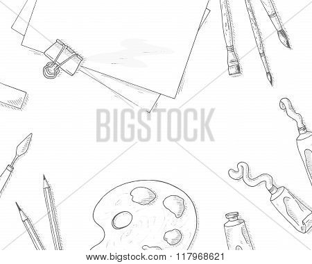 Art tools background