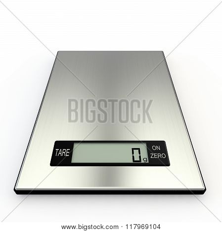Electronic Kitchen Scales Show Zero Grams