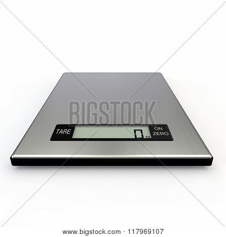 Electronic Kitchen Scales Show Zero Grams