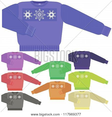Set of Colorful Sweaters for Men