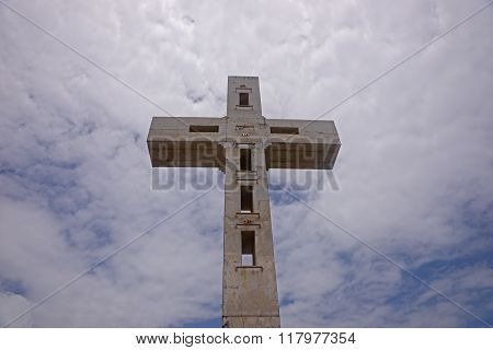 Cross on the eastern tip of Guadeloupe