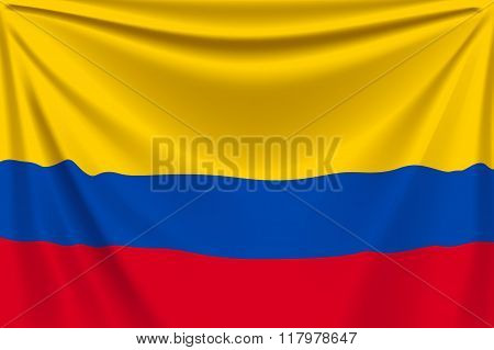 back flag colombia