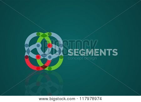Vector outline minimal abstract geometric logo
