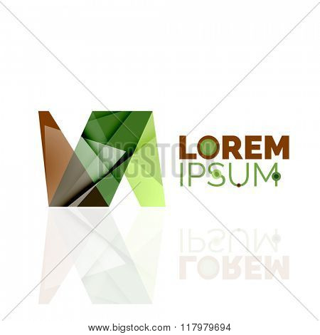 Logo, abstract geometric business icon
