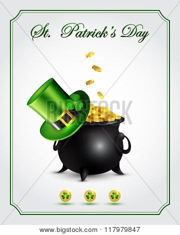 St. Patrick's Day greeting card.