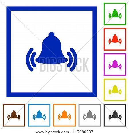 Ringing Bell Framed Flat Icons