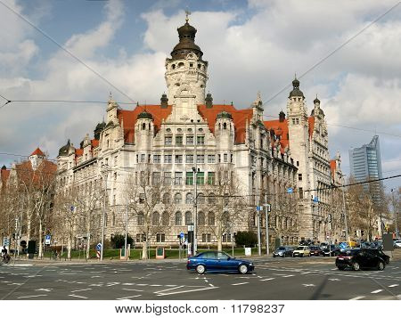 Neues Rathaus in Leipzig, Germany