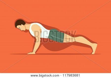 Fighting Obesity Through Sport. Vector Illustration