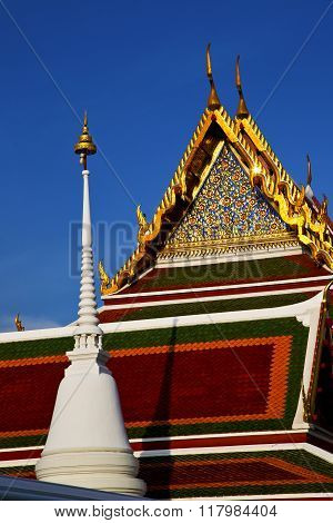 Bangkok In The Temple  Thailand Abstract  Tower