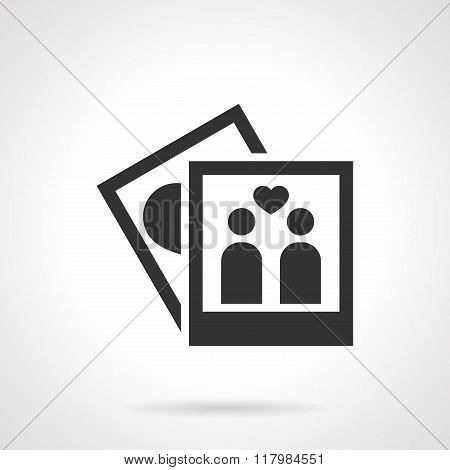 Photo album black design vector icon