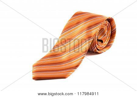 Rolled-up Orange Tie