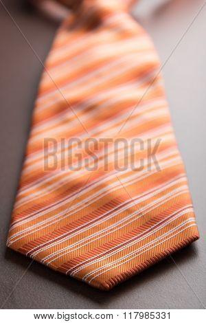Orange Tie On Table
