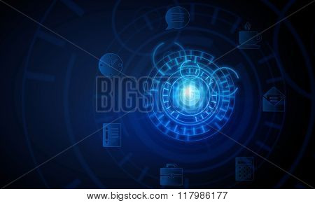 High technology blue background