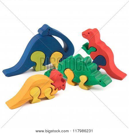 Wooden Dino Toys