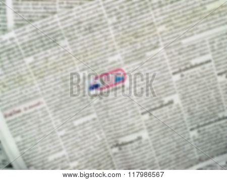 Blur Newspaper