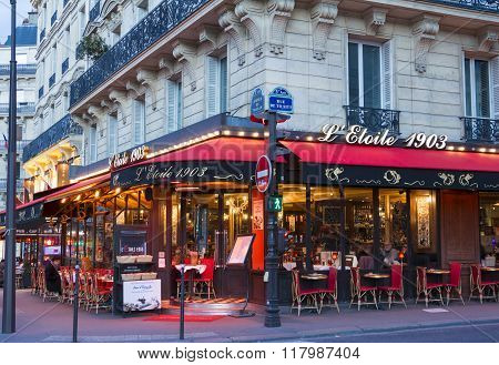 The Parisian Cafe L'etoile 1903, Paris, France.