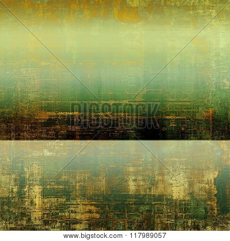 Vintage texture for background. With different color patterns: yellow (beige); brown; green; gray; black