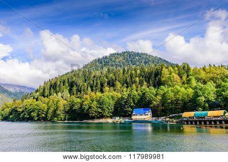 Picturesque Alpine Lake Ritsa