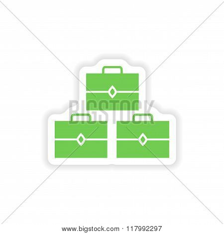 paper sticker on white background treasure chests