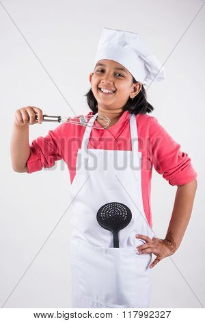 indian small girl chef