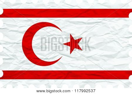 Wrinkled Paper Turkish Republic Of Northern Cyprus Stamp