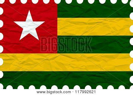 Wrinkled Paper Togo Stamp