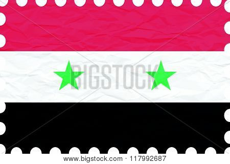 Wrinkled Paper Syria Stamp