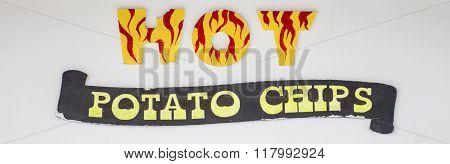 Hot Potato Chips Sign