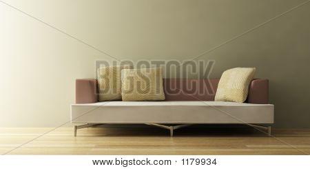 El sofá moderno en 3D