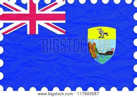 Wrinkled Paper Saint Helena Stamp
