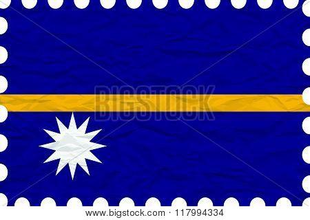 Wrinkled Paper Nauru Stamp