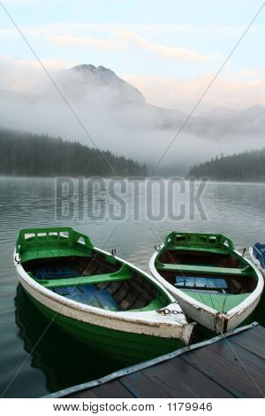 Boote am Bergsee