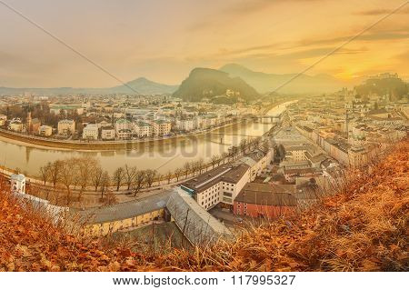 Panoramic view of Salzburg, Salzburger Land
