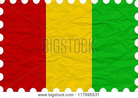 Wrinkled Paper Guinea Stamp