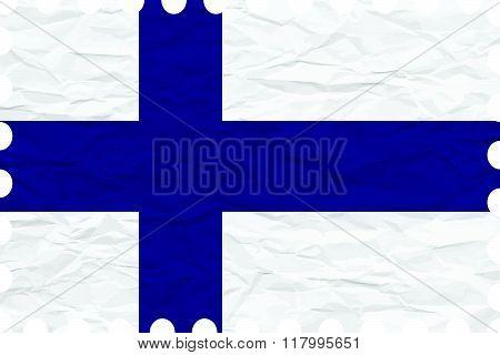 Wrinkled Paper Finland Stamp