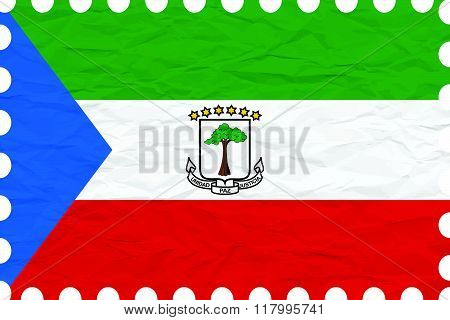 Wrinkled Paper Equatorial Guinea Stamp