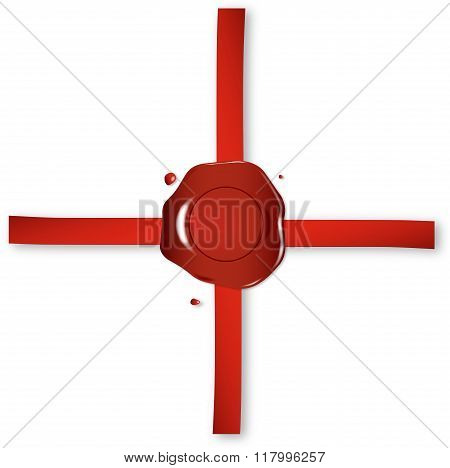 Wax Seal And Red Ribbon