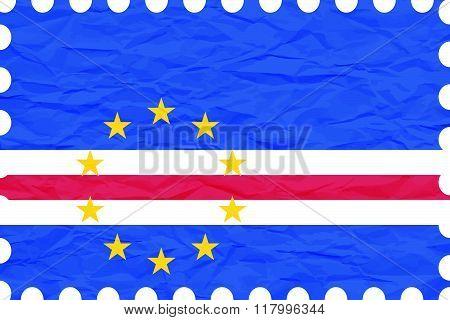 Wrinkled Paper Cape Verde Stamp