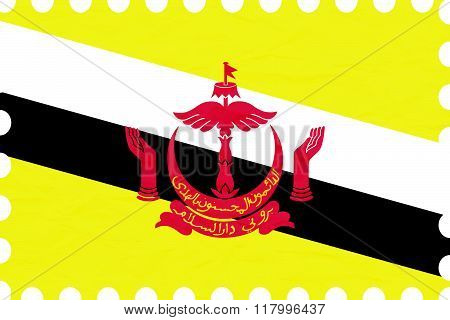 Wrinkled Paper Brunei Stamp