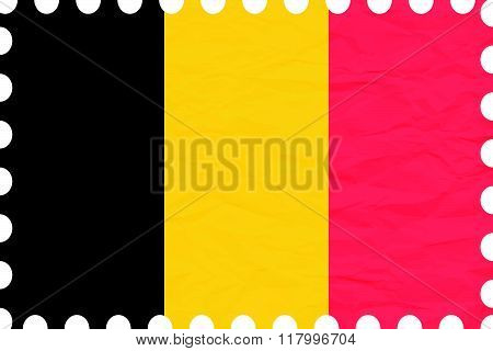 Wrinkled Paper Belgium Stamp