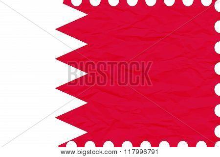 Wrinkled Paper Bahrain Stamp
