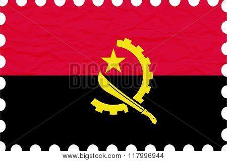 Wrinkled Paper Angola Stamp