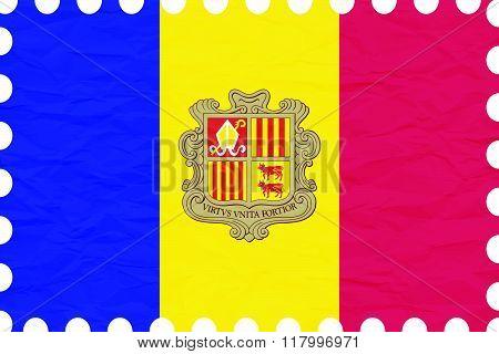 Wrinkled Paper Andorra Stamp