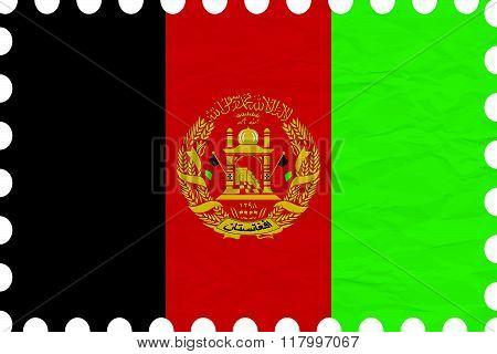 Wrinkled Paper Afghanistan Stamp