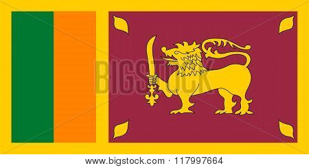 Standard Proportions For Sri Lanka Flag