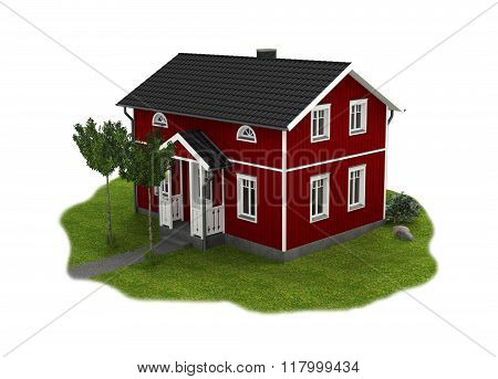 Wooden cottage with garden