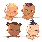 ������, ������: Set of cute little baby girls